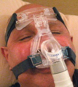 Noorali demonstrating CPAP