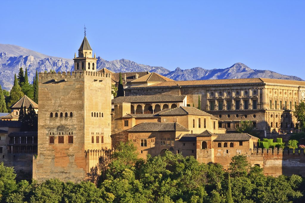 View of Alhambra at sunset, Granada, Spain. (iStockphoto)