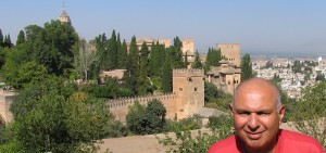 Noorali with Alhambra and Granada in the Background