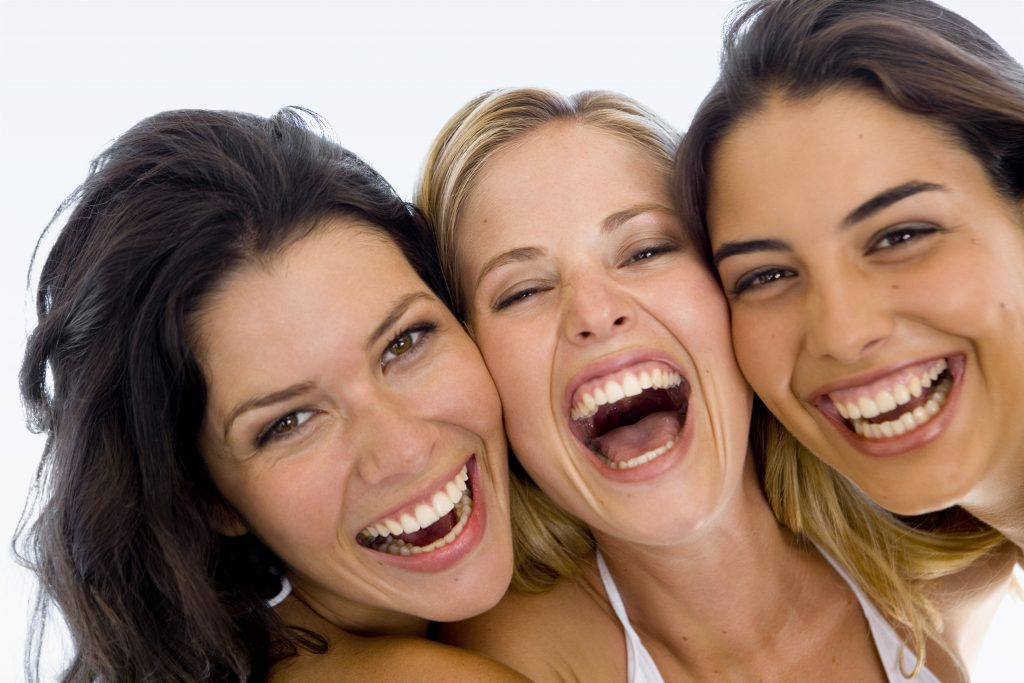 A group of smiling women. (Goodshoot)