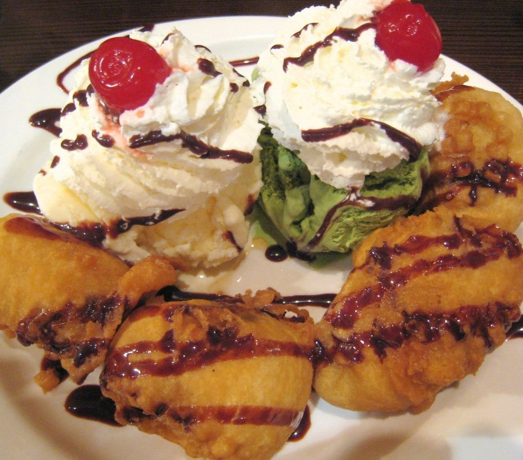 Ice cream and fried bananas. (Dr. Bharwani)