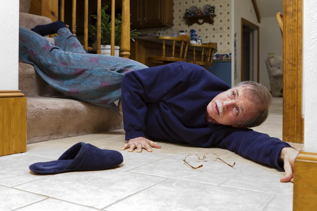 A senior that fell down a flight of stairs. (iStockphoto/Thinkstock)