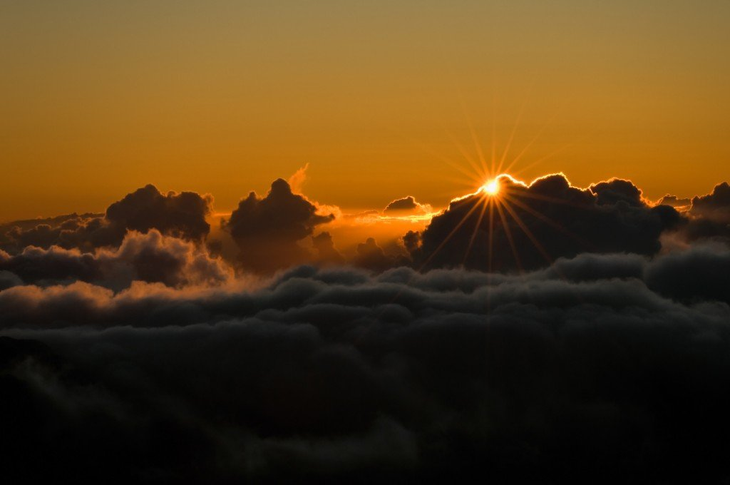 Sunrise above the clouds at Haleakala National Park. (iStockphoto/Thinkstock)