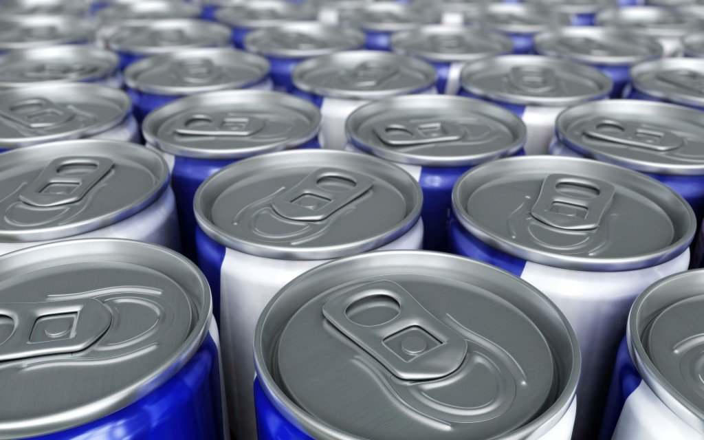 Energy drink cans. (iStockphoto/Thinkstock)