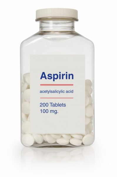 Aspirin bottle. (iStockphoto)