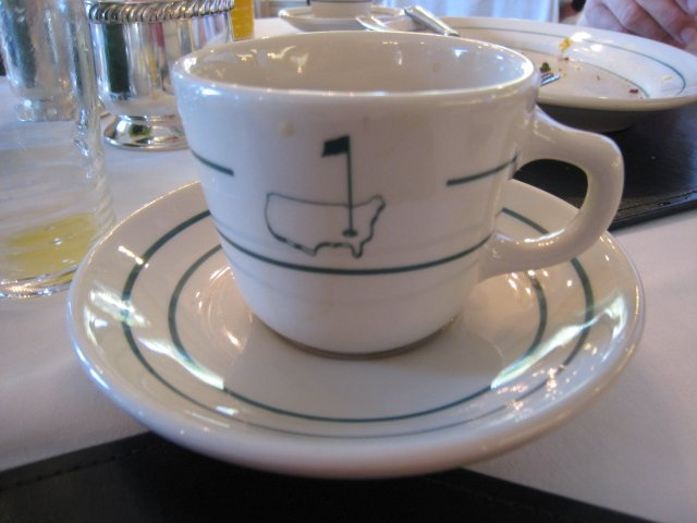 Augusta National Golf Club coffee cup and saucer.