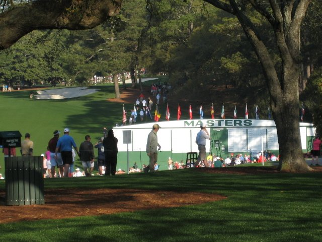 General view of the Augusta National Golf Course.