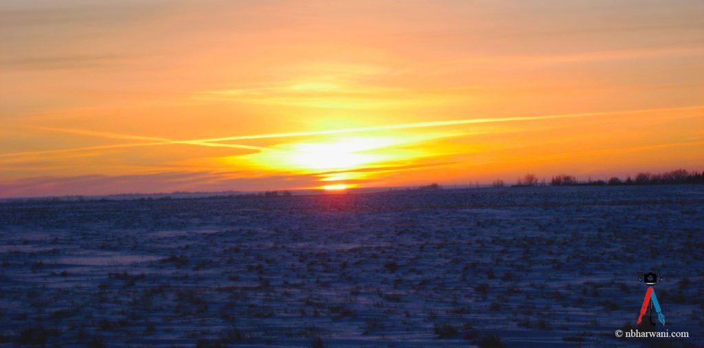 Sunset in the prairies. (Dr. Noorali Bharwani)