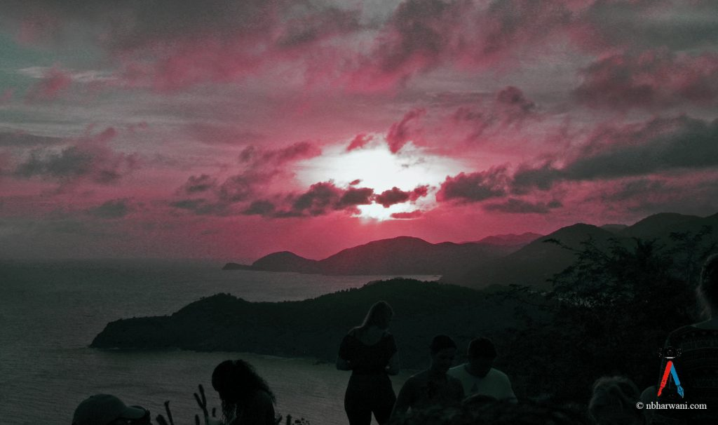 Sunset at Shirley Heights Lookout in English Harbour, Antigua. (Dr. Noorali Bharwani)