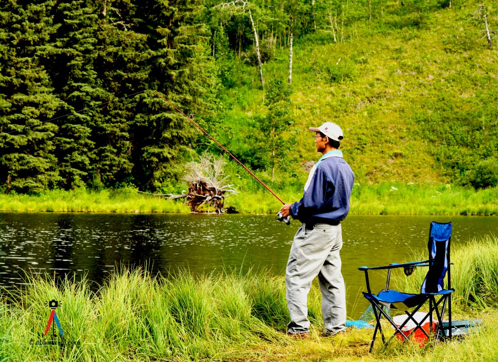 Fishing - one way to relax. (Dr. Noorali Bharwani)