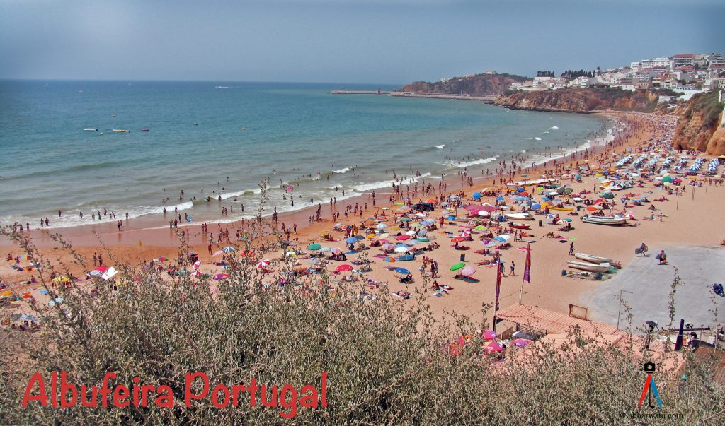A beach in Albufeira, Portugal. Stay active, stay healthy! (Dr. Noorai Bharwani)