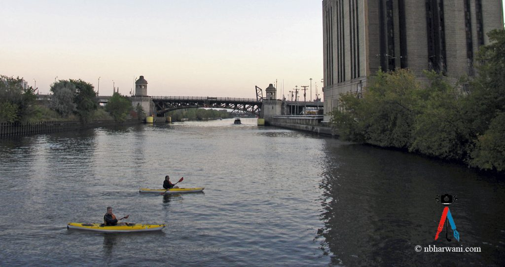 Sunset boating in Chicago. (Dr. Noorali Bharwani)
