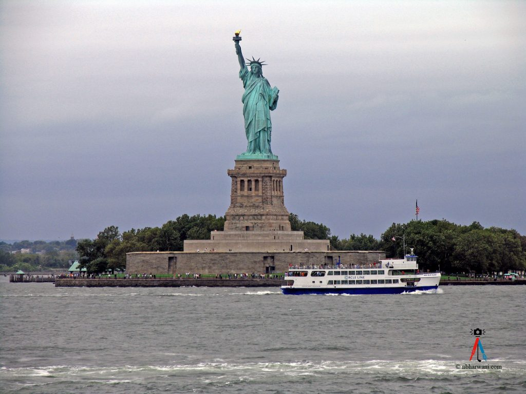The Statue of Liberty on Liberty Island in New York Harbor. (Dr. Noorali Bharwani)