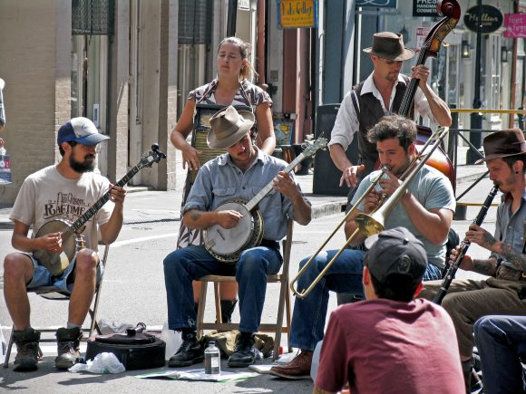 Street Jazz players in New Orleans, LA.