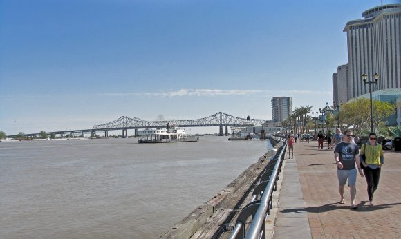 Riverside Walk in New Orleans, LA.