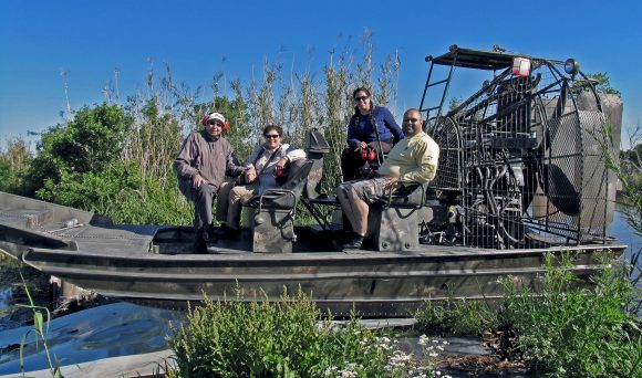 Airboat tour in New Orleans, LA.