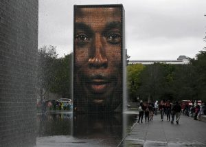 Chicago Crown Fountain Sculpture (Dr. Noorali Bharwani)