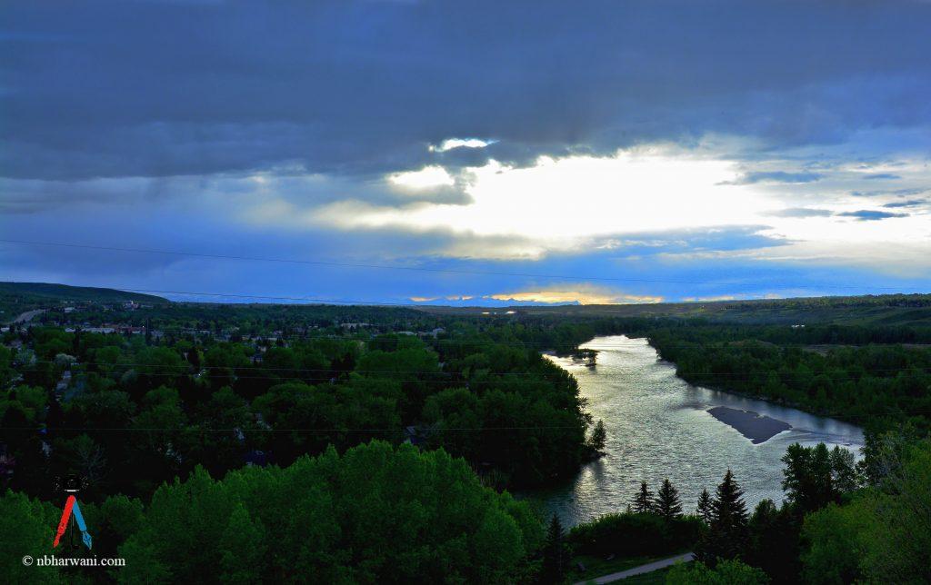 Sunset in Calgary, Alberta. (Dr. Noorali Bharwani)