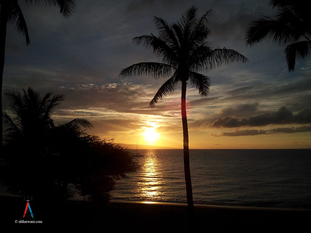 Sunset in Hawaii. (Dr. Noorali Bharwani)