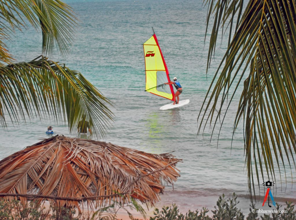 A windsurfer in Antigua. (Dr. Noorali Bharwani)