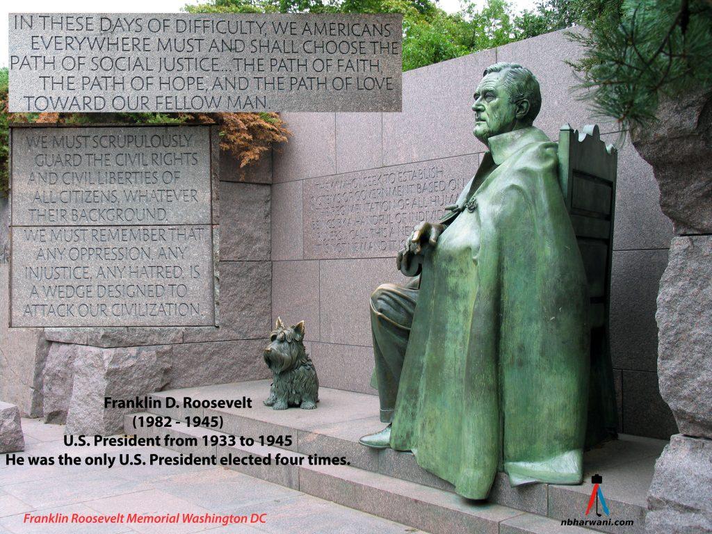 Franklin Delano Roosevelt Memorial in Washington, DC. (Dr. Noorali Bharwani)