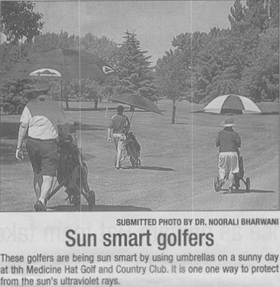 Scan of the photo from The Medicine Hat News.