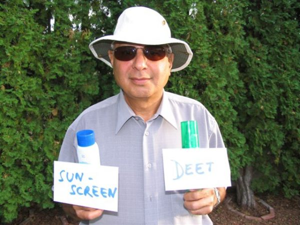 Protect your health by using broad-spectrum sunscreen, insect repellent with DEET, good quality sunglasses and a wide-brimmed hat. Apply the sunscreen first, then DEET.