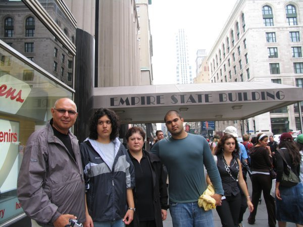 Noorali Bharwani and Family at the Empire State Building