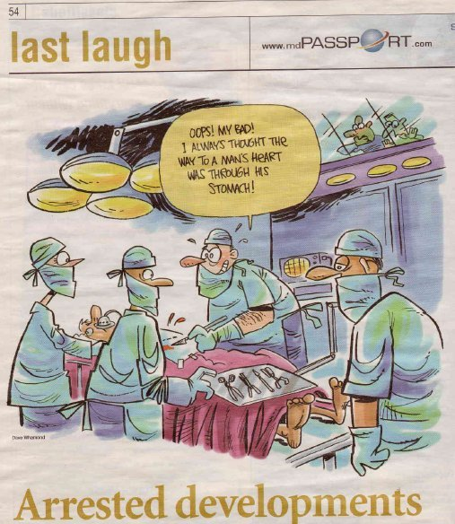 Cartoon from article in Medical Post.