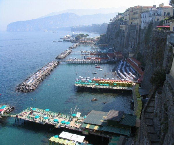 Backdrop to the wedding ceremony - Bay of Naples, Sorrento, Italy