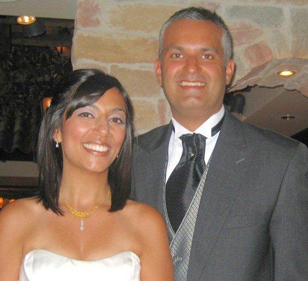 At the reception - Zahra and Navroz Khimji