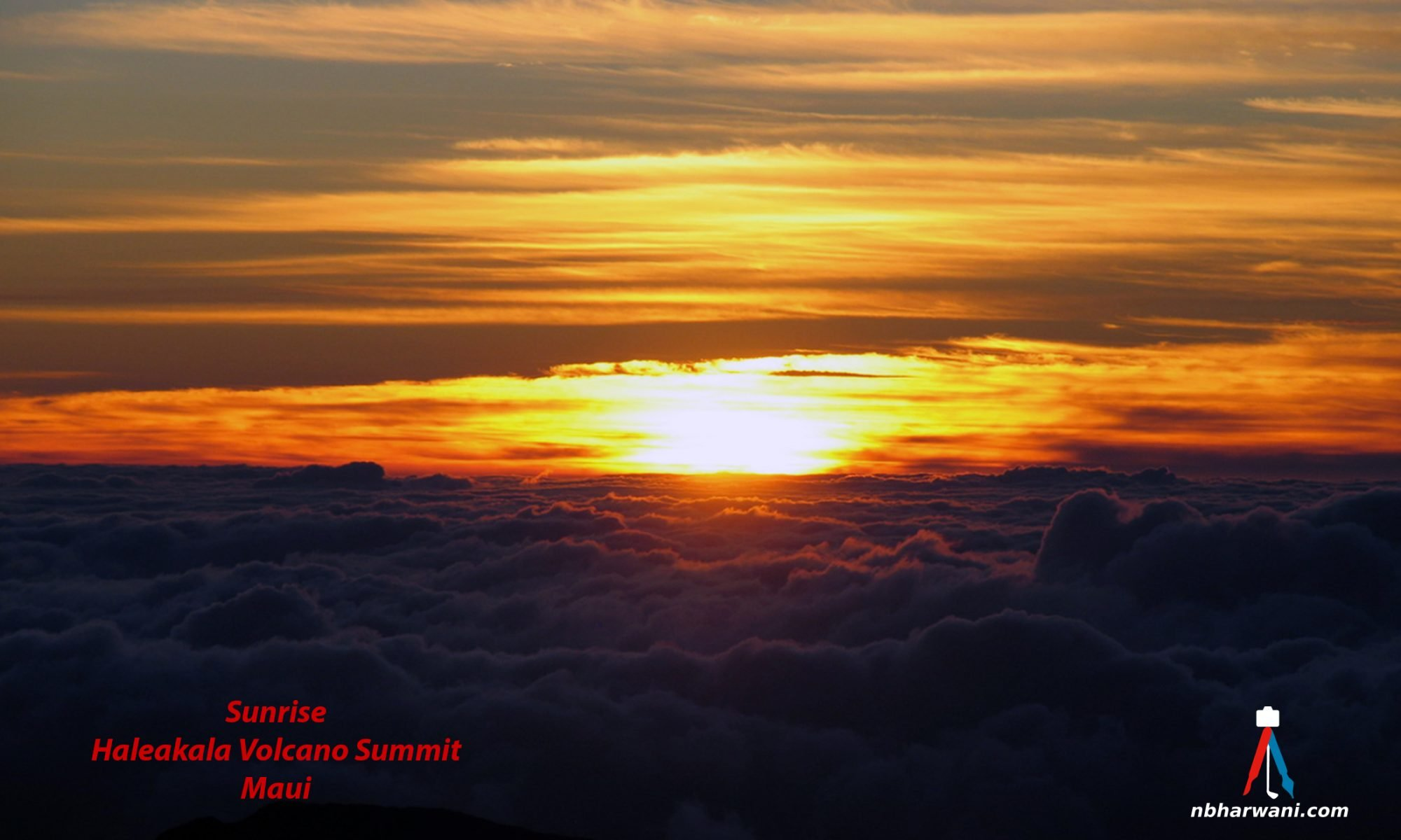 Sunrise at Haleakala Volcano Summit in Maui, Hawaii. (Dr. Noorali Bharwani)