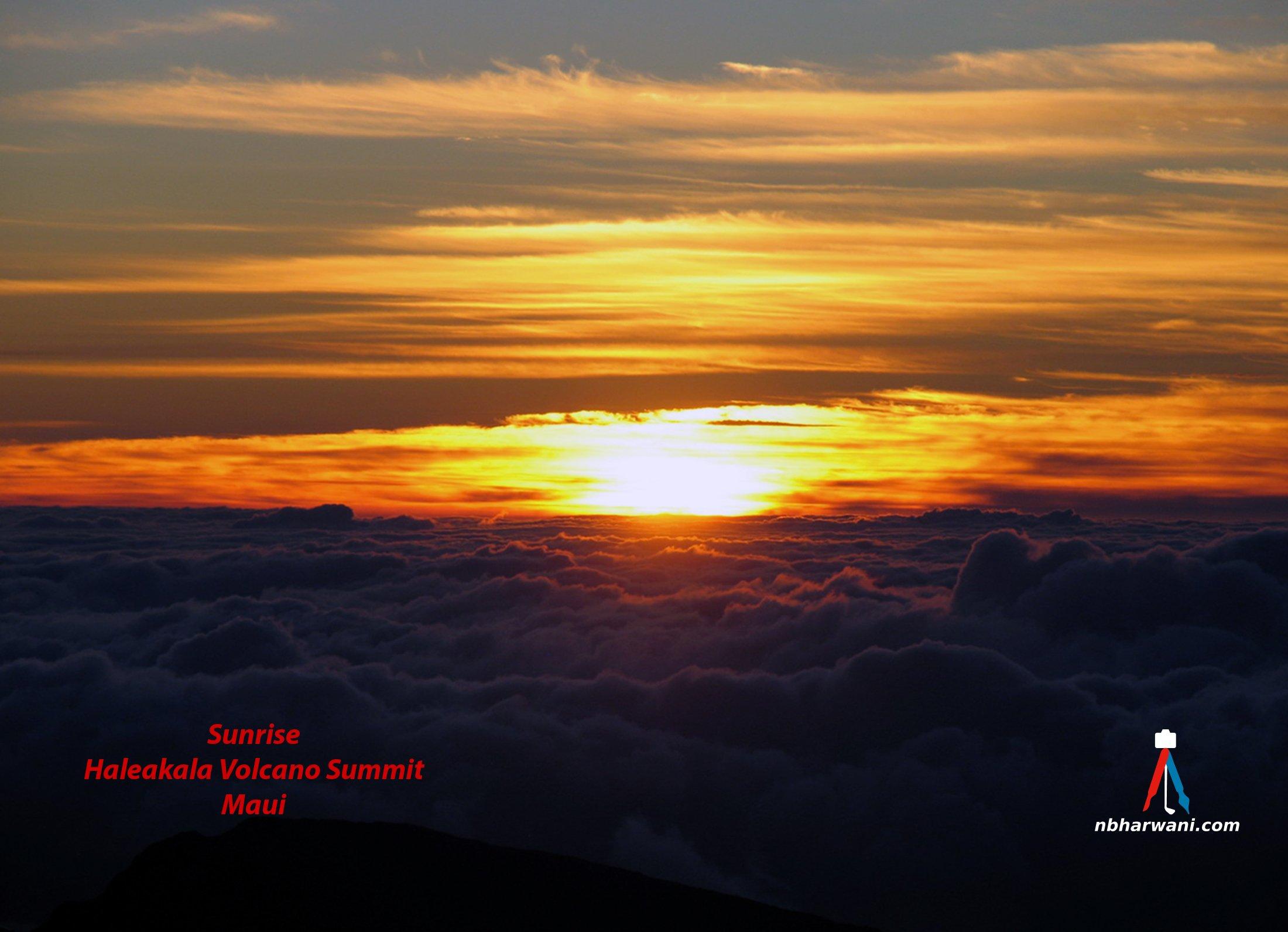 Sunrise at Haleakala Volcano Summit in Maui, Hawaii. (Dr. Noorali Bharwani)
