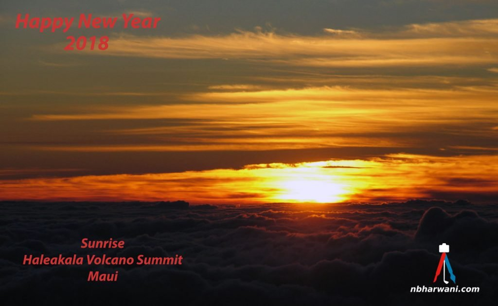 Sunrise at Haleakala Volcano Summit in Maui. (Dr. Noorali Bharwani)