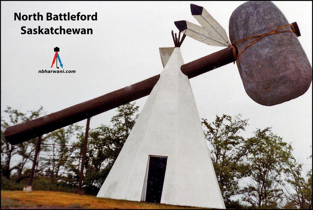 A teepee in North Battleford, Saskatchewan, in 1984. (Dr. Noorali Bharwani)