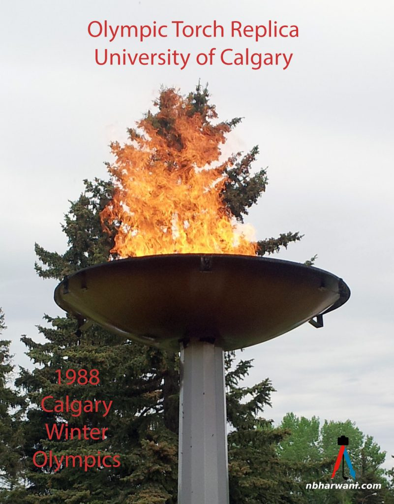 Olympic Flame from the 1988 Winter Games at the University of Calgary. (Dr. Noorali Bharwani)