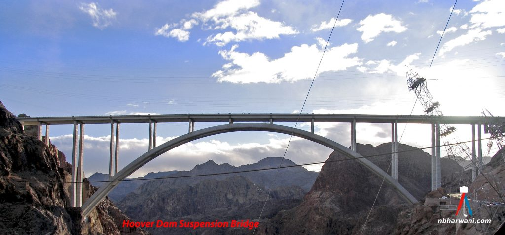 The Mike O'Callaghan–Pat Tillman Memorial Bridge, a key component of the Hoover Dam Bypass project. (Dr. Noorali Bharwani)