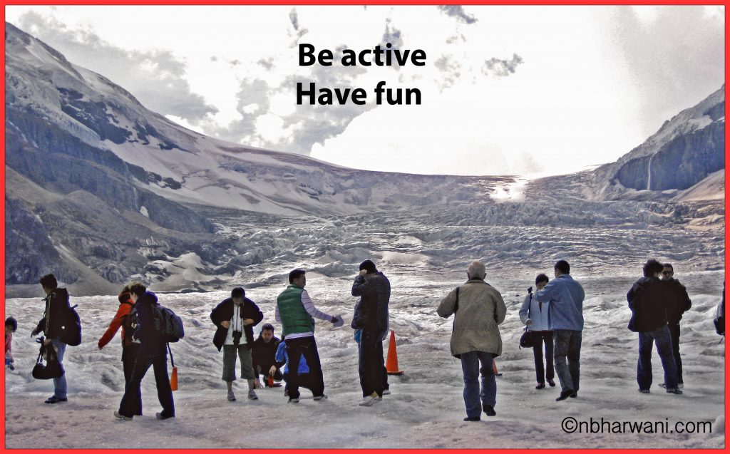 Columbia Icefield - the largest ice field in the Rocky Mountains. (Dr. Noorali Bharwani)