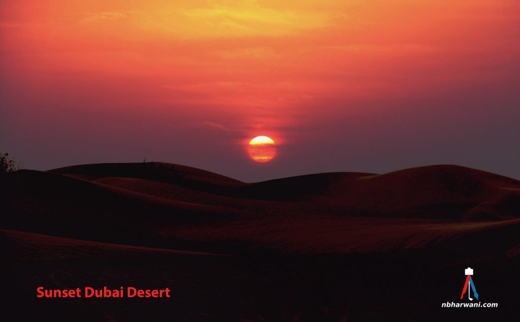 Sunset in the Dubai desert. (Dr. Noorali Bharwani)