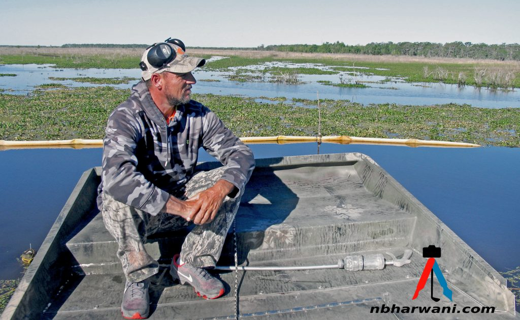 Air boat tour outside New Orleans . (Dr. Noorali Bharwani)