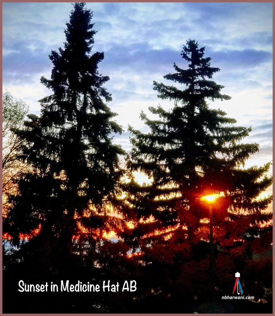 Sunset in Medicine Hat, Alberta. (Dr. Noorali Bharwani)