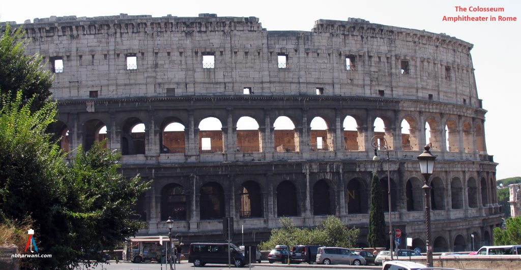 The Colosseum amphitheater located in the centre of Rome, Italy. (Dr. Noorali Bharwani)