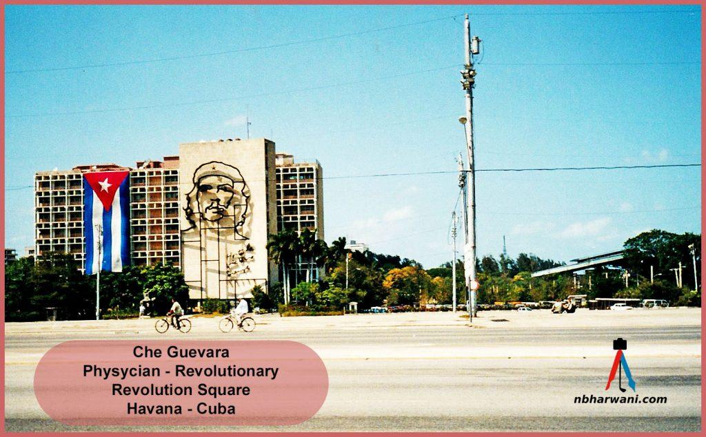 "Ernesto ""Che"" Guevara mural in Havana, Cuba. He was a physician revolutionary. (Dr. Noorali Bharwani)"