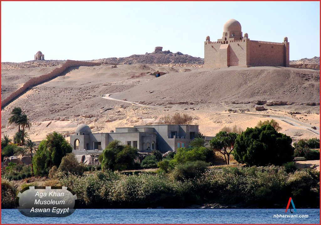 Mausoleum of Aga Khan III, Sir Sultan Muhammed Shah, located along the Nile of Egypt. (Dr. Noorali Bharwani)