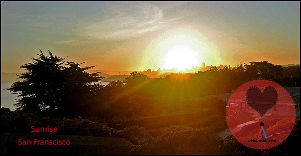 Sunrise in San Francisco. (Dr. Noorali Bharwani)
