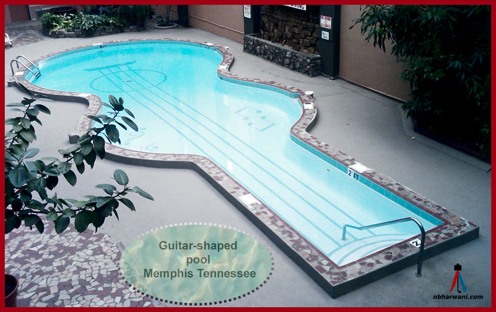 Guitar shaped pool in Memphis, Tennessee. (Dr. Noorali Bharwani)